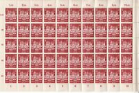 SALE Stamp Germany Sc B249 Sheet 1943 WWII 3rd Reich Lubeck City AH Berlin MNH