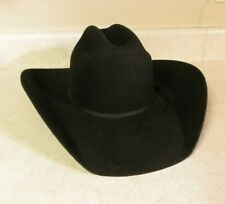 Twister Black Wool Cowboy Hat Youth L Junior Stretch To Fit Band