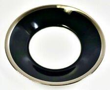 """Haviland Limoges Laque De Chine Platinum Rim - Noir Flat Cup Saucer, 5 7/8"""" D"""