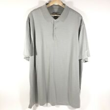 Nike Golf Tour Performance Victory Striped Polo Shirt Gray Mens 2Xl Xxl