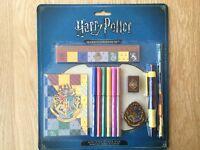 Harry Potter Hogwarts 12 Piece Stationery Set Pen/Pencil/Ruler/ Sharpener