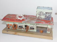 KIBRI vintage GERMAN RAILWAY RAILROAD STATION GARE en METAL TIN TOY train BUFFET