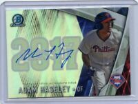 2017 Bowman Chrome Refractor Class of 2017 Adam Haseley Auto RC Phillies Rookie