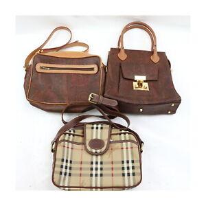 Burberrys Etro PVC Shoulder/Hand Bag 3 pieces set 523815