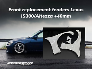 """Front fenders """"Monsterservice"""" +40mm for Lexus is300/Toyota Altezza"""