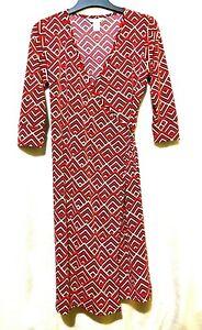 DVF  printed red wrap dress