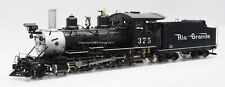Accucraft AL87-121C D&RGW C-25 #375 Black, Live Steam Coal fired, Kohle gefeuert