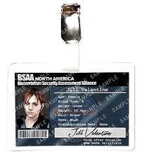Resident Evil Jill Valentine ID Badge BSAA Zombie Cosplay Costume Prop Halloween