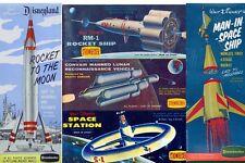 REPRO DECALS:  STROMBECKER  SPACE STATION, RM-1 LUNAR RECON MOONLINER  et al