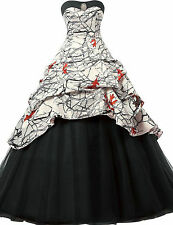 2017 Camo Wedding Dresses Formal Ball Gown Camouflage Tulle Lace Up Bridal Gowns