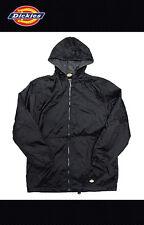DICKIES MEN  Fleece Hooded Zip Front Nylon Lined Jacket Windbreaker 33237