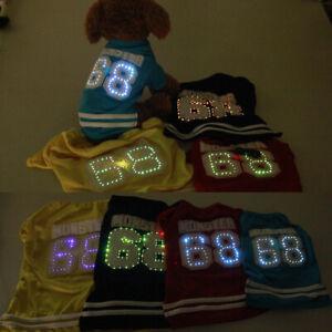 Small Dog Clothes Led Light Pet Puppy Hoodied Dog Cat Apparel 4 Colors XXS-L