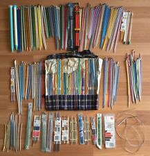 OLD VTG SINGLE DOUBLE POINT KNITTING NEEDLE SUSAN BATES BOYE CHESTER LOT OF 273