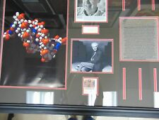 """Deoxyribose Nucleic Acid"" Watson & Crick Signed Framed Display Todd Mueller COA"