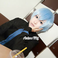 Anime for Kuroko's Basketball Tetsuya Ice Short Light Blue Hair Men Cosplay Wig