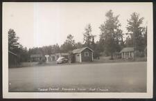 RP Postcard KAKABEKA FALLS Ontario/CANADA Local Area Tourist Court Cabins 1940's
