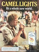 1986 Camel Light Cigarettes Print Ad A Whole New World African Marketplace
