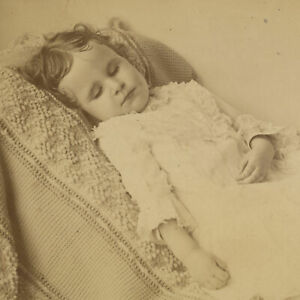 Beautiful ID'd 3-Year Old Girl Post-Mortem Photo 1883 Oversize Cabinet Card