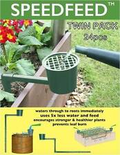 Slow Release Garden Watering System Self Water Drip Roots Plant Veggie Twin Pack