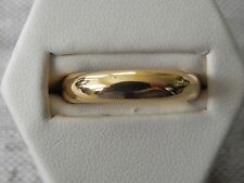 23kt 958 Yellow Gold Wedding Band Ring Size 7.5