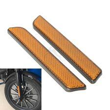 L&R Front Fork Leg Reflectors Fits For Harley lower legs sliders Super Glide FXD