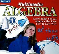 MULTIMEDIA ALGEBRA. LEARN HIGH SCHOOL ALGEBRA THE FUN FAST & EASY WAY! FREE SHIP