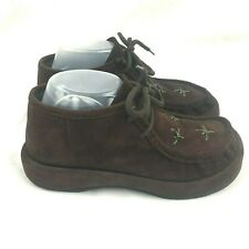 Robert Clergerie Espace 90's Brown Suede Platform Ankle Booties Size 7.5 Punk