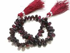 10 Piece Natural Garnet Teardrop Faceted Briolette 4x6-4x8mm Gemstone Beads