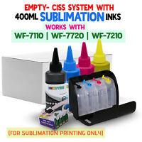 CISS Sublimation Kit for Epson Workforce WF-7710 WF-7110 WF-7720 + 400ml Ink