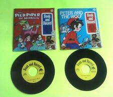 Vintage lot kids 1971 PETER PAN BOOK AND RECORD SET 45 RPM THE PIED PIPER