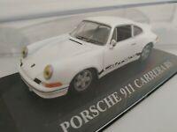 1/43 PORSCHE 911 CARRERA RS BLANCO NEGRO COCHE METAL IXO ESCALA SCALE DIECAST