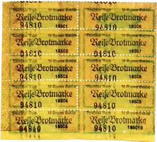 1941 Germany WW2 Reise Brotmarke für 50 Gramm Gebäck Bread Ration Coupon block