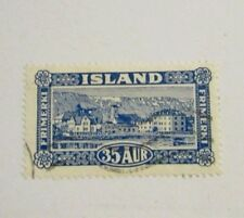 Iceland Scott 147 Θ extra fine used 35 Aur, mute cancel  + 102 card, superfleas