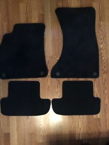 Audi QA5 2010-2016 OEM  Black Carpet Floor Mats 4 Piece Set 21702A JA2