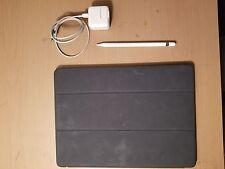 Used Apple iPad Pro 12.9 128GB Wi-Fi Silver Bundle Smart Cover Apple Pencil