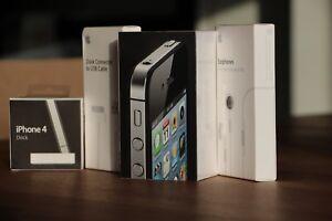 Brand New Apple iPhone 4 Black 8GB 100% Apple Factory Sealed With Rare Bonuses