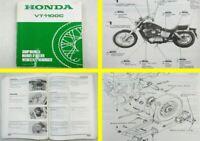Reparaturanleitung Honda VT1100C Shadow Shop Manual Werkstatthandbuch 1988