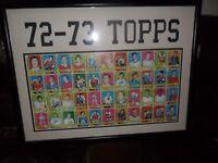 1972-73 TOPPS HOCKEY Uncut Proof Sheet w/ Bobby Orr Framed 34x26 TOPPS VAULT COA