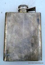 old sterling silver whisky bottle pocket flask wine