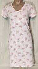 Ralph Lauren Nightgown Pajamas Soft Cotton Floral Pink V- Neck Knee Length Sz S