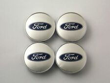 60mm 2.36in Tire Wheel Center Caps Hub Caps Clip Fit Ford Silver/Silver Car Part