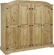 Pine Wardrobes with 4 Doors