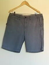 "Mens 36"" White Stuff Blue Striped Pocketed Chino Shorts <LR405"
