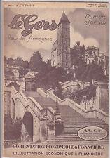L'orientation économique et financière numéro special GERS 1931