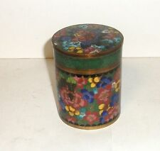 OLD CHINESE CLOISONNE ENAMEL MILLEFLEUR  HUMIDOR CANISTER JAR BOX