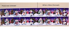 CHRISTMAS SNOWMEN WINDOW DECORATION STATIC CLING STICKERS (CCWCS007)