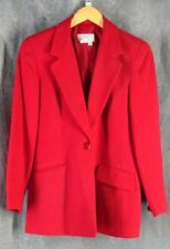 Talbots 6 Petite Beautiful Red Wool Suit Skirt Blazer