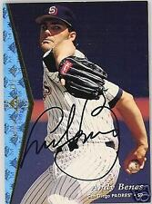 Andy Benes San Diego Padres 1995 Autographed Sp Baseball Card Jsa