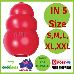 KONG Classic Dog Toy Red Durable Natural Chew Rubber USA Made - S M L XL XXL NEW