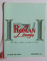 1950s ROMAN LOUNGE Restaurant Menu, Philadelphia PA